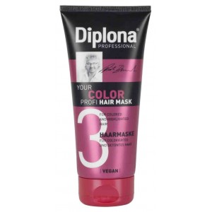 DIPLONA PROF. HAIR MASK COLOR / ΜΑΣΚΑ ΜΑΛΛΙΩΝ ΒΑΜΜΕΝΑ 200ml