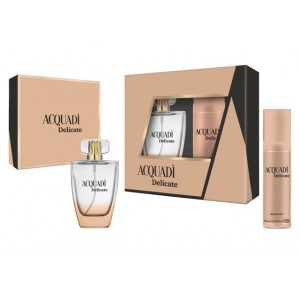 ACQUADI WOMAN SET DELICATE  - EDT SPRAY 100 ML + DEO SPRAY 150 ML