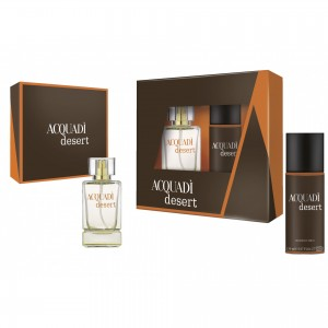 ACQUADI MAN SET DESERT  - EDT SPRAY 100 ML + DEO SPRAY 150 ML
