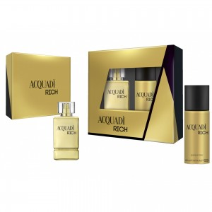 ACQUADI MAN SET RICH  - EDT SPRAY 100 ML + DEO SPRAY 150 ML